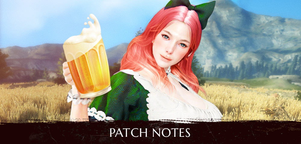 BDO – BEERFEST! Patch Notes 19 09 2018 - All Patch Notes