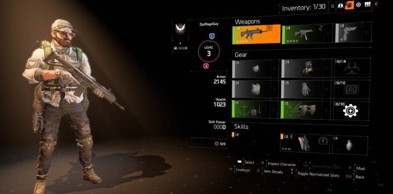 Division 2 – TIPS & TRICKS | Detailed Inventory Management, Mods, Matchmaking