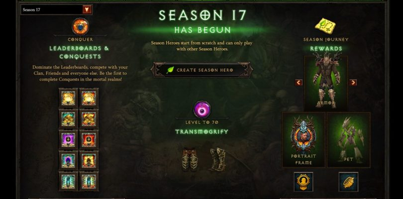 Diablo 3 – Season 17 & 2.6.5 Patch Notes